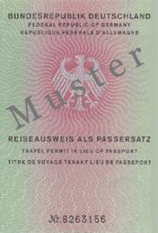 Reiseausweis als Passersatz
