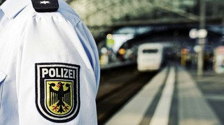 Bundespolizei am Bahnsteig