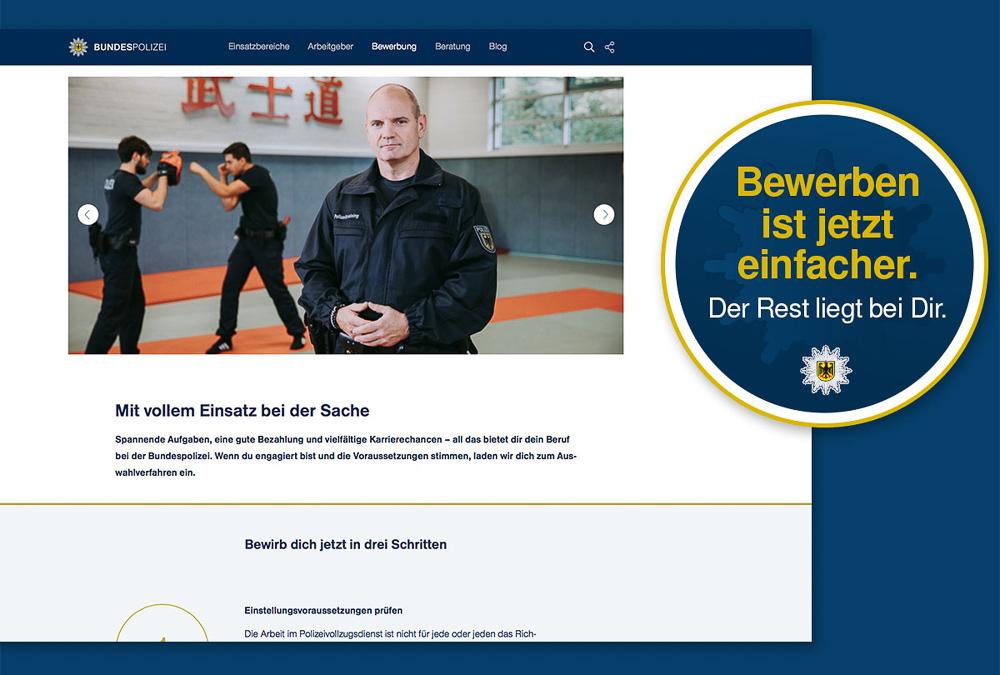 ber die neugestaltete website kann man sich jetzt auch online bewerben - Bundespolizei Bewerben